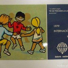 Postales: POSTAL. SERIE L Nº 3 DE E. LARA. AÑO INTERNACIONAL DEL NIÑO. ED. SERVICIO NACIONAL DE LOTERIAS.. Lote 179154376