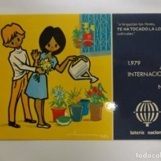 Postales: POSTAL. SERIE L Nº 8 DE E. LARA. AÑO INTERNACIONAL DEL NIÑO. ED. SERVICIO NACIONAL DE LOTERIAS.. Lote 179154422