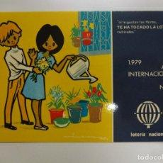 Postales: POSTAL. SERIE L Nº 8 DE E. LARA. AÑO INTERNACIONAL DEL NIÑO. ED. SERVICIO NACIONAL DE LOTERIAS.. Lote 179154448