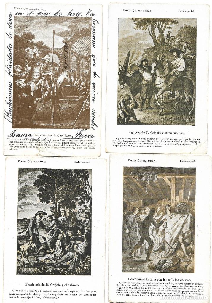 Postales: LOTE 37 POSTALES DON QUIJOTE DE LA MANCHA LA MAYORÍA TERCER CENTENARIO AÑO 1905 MUY RARAS - Foto 2 - 182209838