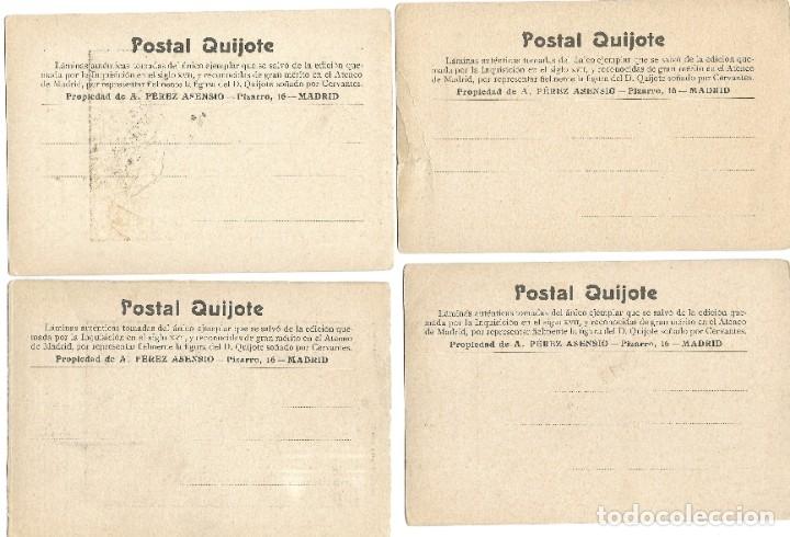 Postales: LOTE 37 POSTALES DON QUIJOTE DE LA MANCHA LA MAYORÍA TERCER CENTENARIO AÑO 1905 MUY RARAS - Foto 3 - 182209838