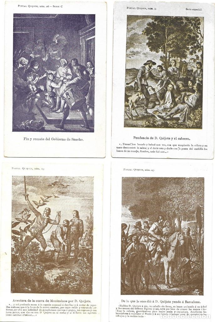 Postales: LOTE 37 POSTALES DON QUIJOTE DE LA MANCHA LA MAYORÍA TERCER CENTENARIO AÑO 1905 MUY RARAS - Foto 4 - 182209838