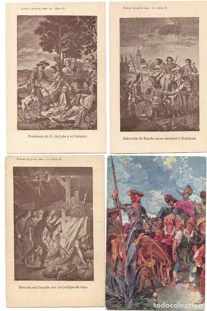 Postales: LOTE 37 POSTALES DON QUIJOTE DE LA MANCHA LA MAYORÍA TERCER CENTENARIO AÑO 1905 MUY RARAS - Foto 6 - 182209838