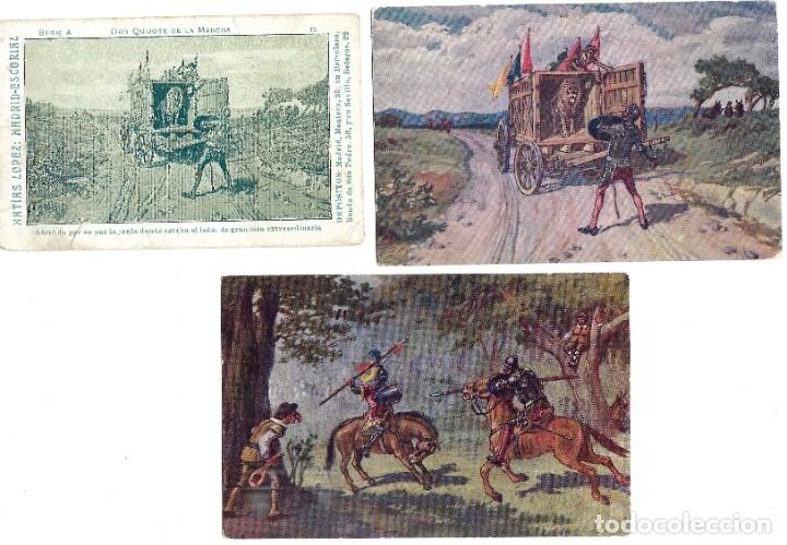Postales: LOTE 37 POSTALES DON QUIJOTE DE LA MANCHA LA MAYORÍA TERCER CENTENARIO AÑO 1905 MUY RARAS - Foto 8 - 182209838