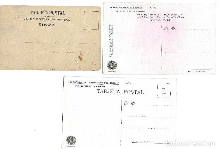 Postales: LOTE 37 POSTALES DON QUIJOTE DE LA MANCHA LA MAYORÍA TERCER CENTENARIO AÑO 1905 MUY RARAS - Foto 9 - 182209838