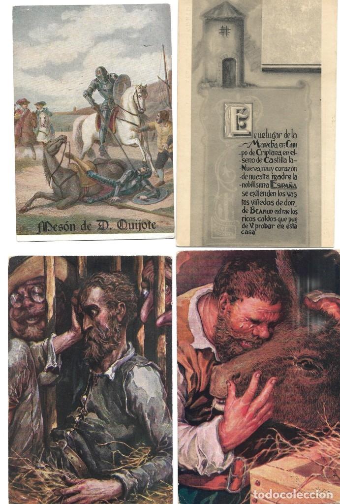 Postales: LOTE 37 POSTALES DON QUIJOTE DE LA MANCHA LA MAYORÍA TERCER CENTENARIO AÑO 1905 MUY RARAS - Foto 10 - 182209838
