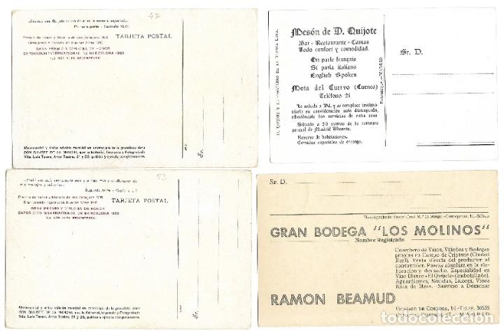 Postales: LOTE 37 POSTALES DON QUIJOTE DE LA MANCHA LA MAYORÍA TERCER CENTENARIO AÑO 1905 MUY RARAS - Foto 11 - 182209838