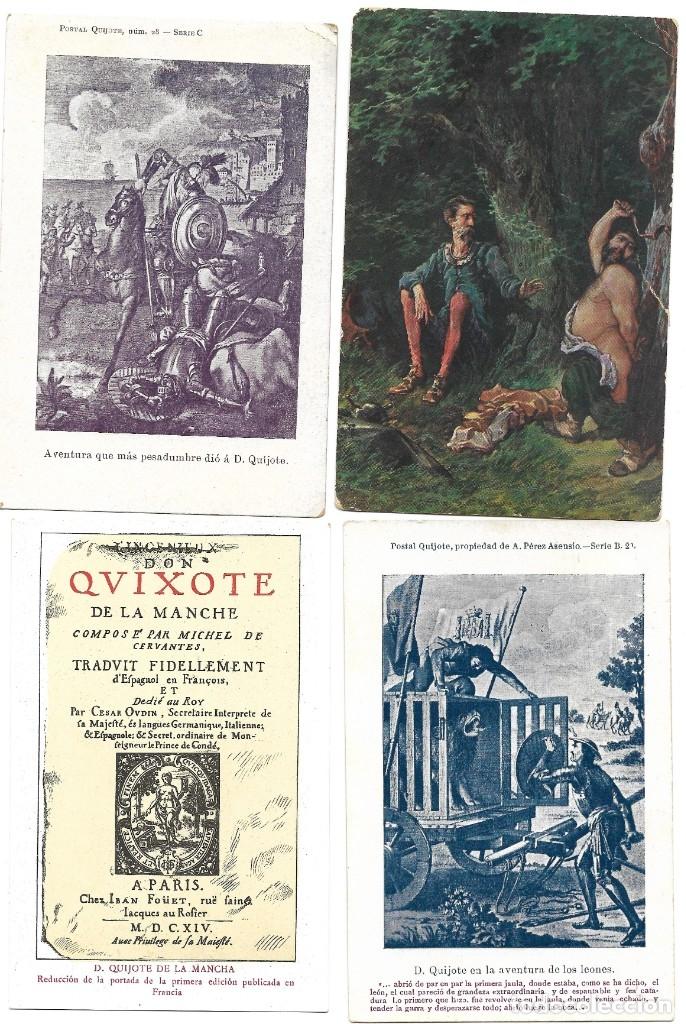 Postales: LOTE 37 POSTALES DON QUIJOTE DE LA MANCHA LA MAYORÍA TERCER CENTENARIO AÑO 1905 MUY RARAS - Foto 12 - 182209838