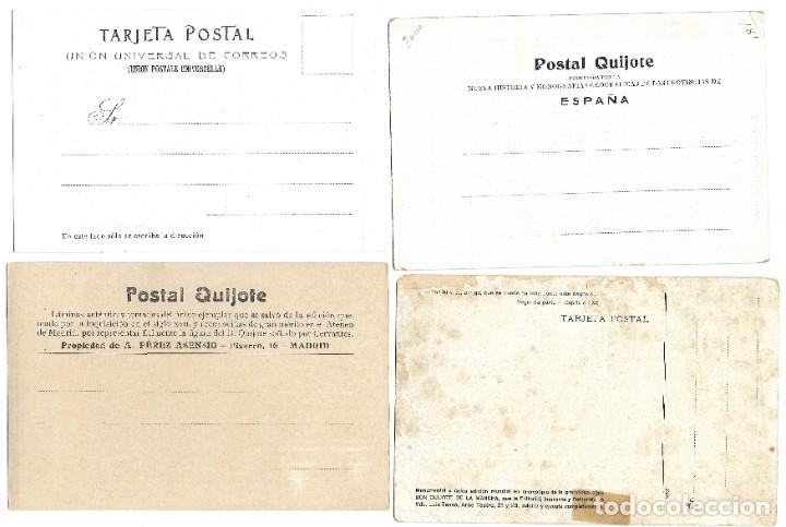 Postales: LOTE 37 POSTALES DON QUIJOTE DE LA MANCHA LA MAYORÍA TERCER CENTENARIO AÑO 1905 MUY RARAS - Foto 13 - 182209838