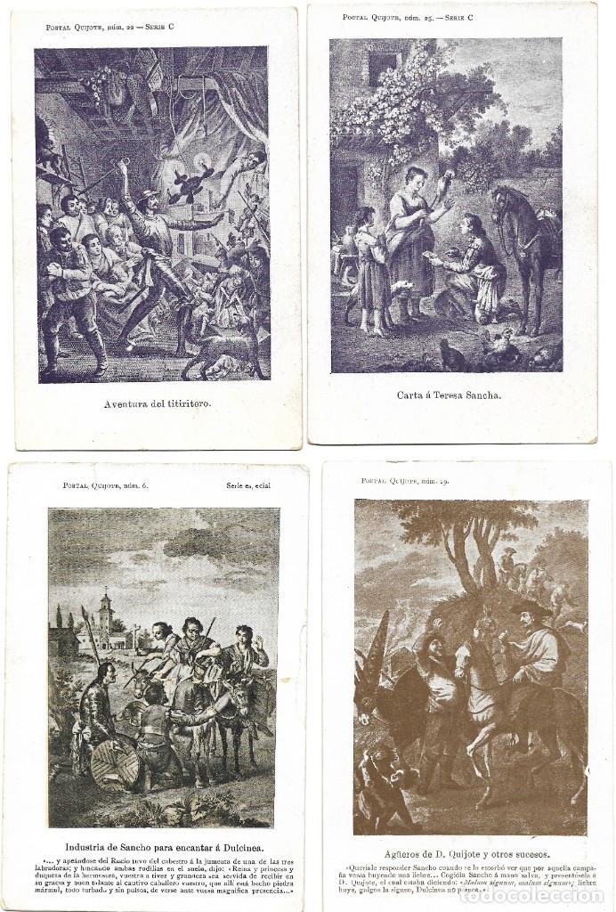 Postales: LOTE 37 POSTALES DON QUIJOTE DE LA MANCHA LA MAYORÍA TERCER CENTENARIO AÑO 1905 MUY RARAS - Foto 14 - 182209838