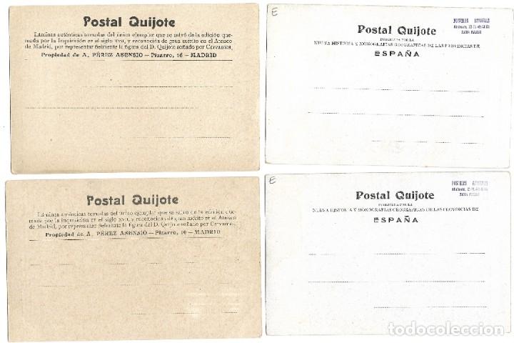 Postales: LOTE 37 POSTALES DON QUIJOTE DE LA MANCHA LA MAYORÍA TERCER CENTENARIO AÑO 1905 MUY RARAS - Foto 15 - 182209838