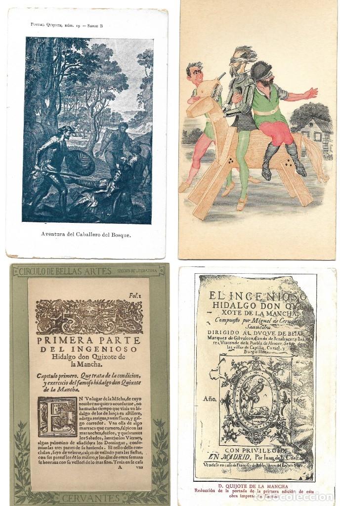 Postales: LOTE 37 POSTALES DON QUIJOTE DE LA MANCHA LA MAYORÍA TERCER CENTENARIO AÑO 1905 MUY RARAS - Foto 16 - 182209838