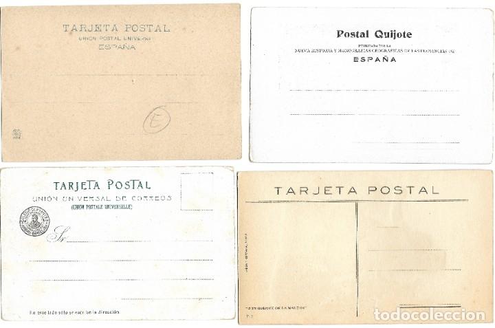 Postales: LOTE 37 POSTALES DON QUIJOTE DE LA MANCHA LA MAYORÍA TERCER CENTENARIO AÑO 1905 MUY RARAS - Foto 17 - 182209838