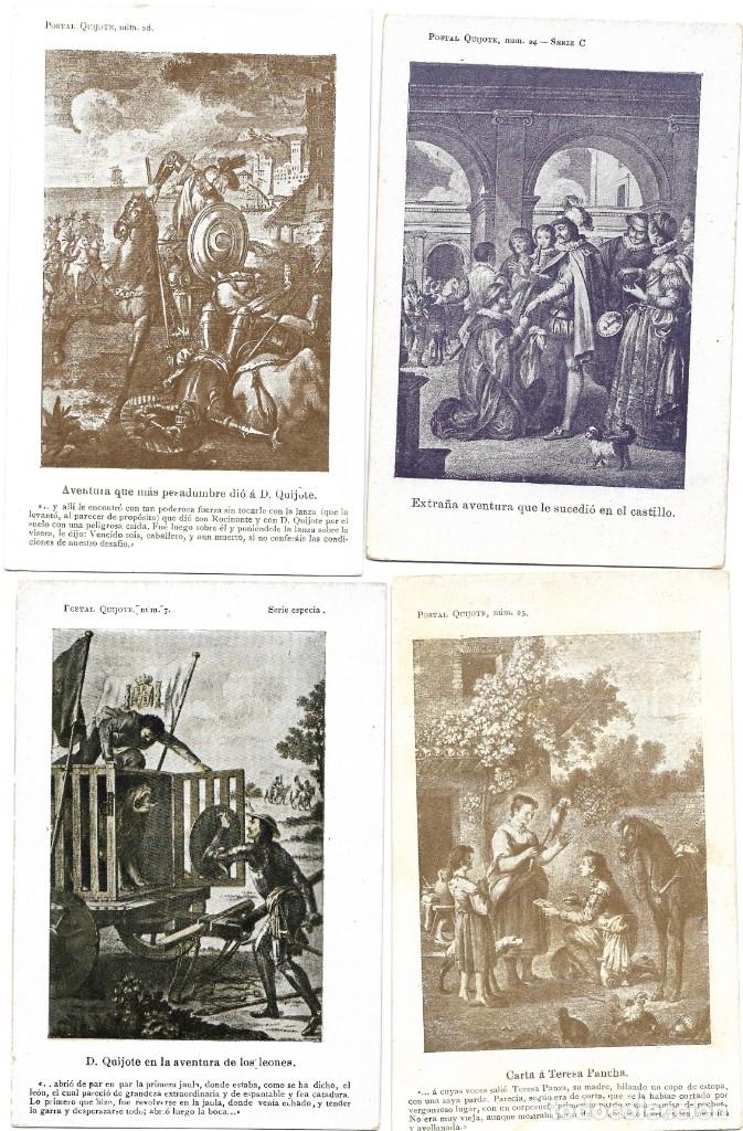 Postales: LOTE 37 POSTALES DON QUIJOTE DE LA MANCHA LA MAYORÍA TERCER CENTENARIO AÑO 1905 MUY RARAS - Foto 18 - 182209838