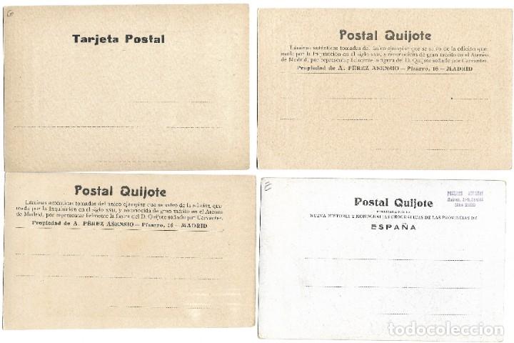 Postales: LOTE 37 POSTALES DON QUIJOTE DE LA MANCHA LA MAYORÍA TERCER CENTENARIO AÑO 1905 MUY RARAS - Foto 19 - 182209838