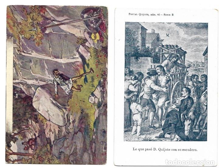 Postales: LOTE 37 POSTALES DON QUIJOTE DE LA MANCHA LA MAYORÍA TERCER CENTENARIO AÑO 1905 MUY RARAS - Foto 20 - 182209838