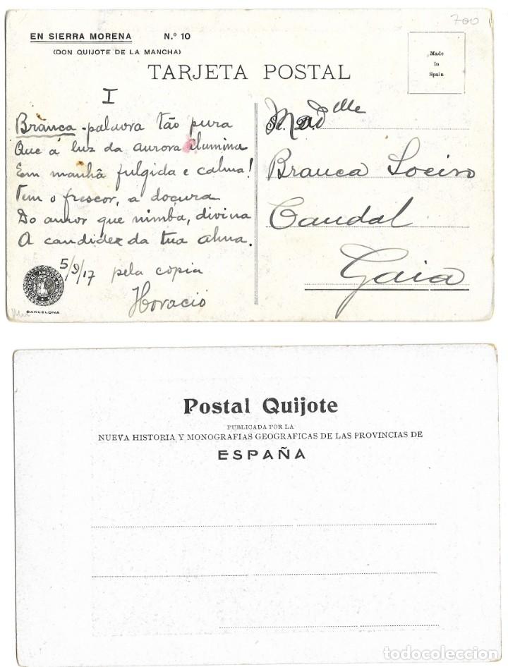 Postales: LOTE 37 POSTALES DON QUIJOTE DE LA MANCHA LA MAYORÍA TERCER CENTENARIO AÑO 1905 MUY RARAS - Foto 21 - 182209838