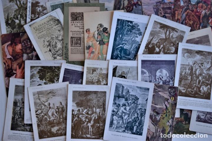LOTE 37 POSTALES DON QUIJOTE DE LA MANCHA LA MAYORÍA TERCER CENTENARIO AÑO 1905 MUY RARAS (Postales - Postales Temáticas - Conmemorativas)