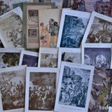 Postales: LOTE 37 POSTALES DON QUIJOTE DE LA MANCHA LA MAYORÍA TERCER CENTENARIO AÑO 1905 MUY RARAS. Lote 182209838