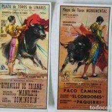 Postales: POSTALES CARTEL TAURINO MANOLETE PAQUIRRI. Lote 183724235