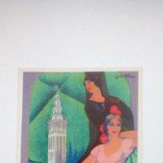 Postales: TARJETA POSTAL EXPOSICION SEVILLA 1930 ORIGINAL FIESTAS DE PRIVAMERA EXPOSICION SEMANA SANTA - FERIA. Lote 185734831