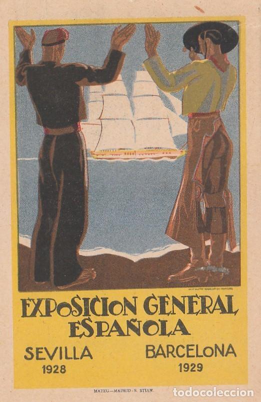 ANTIGUA POSTAL EXPOSICIÓN GENERAL ESPAÑOLA SEVILLA 1928 BARCELONA 1929 SIN CIRCULAR AA (Postales - Postales Temáticas - Conmemorativas)