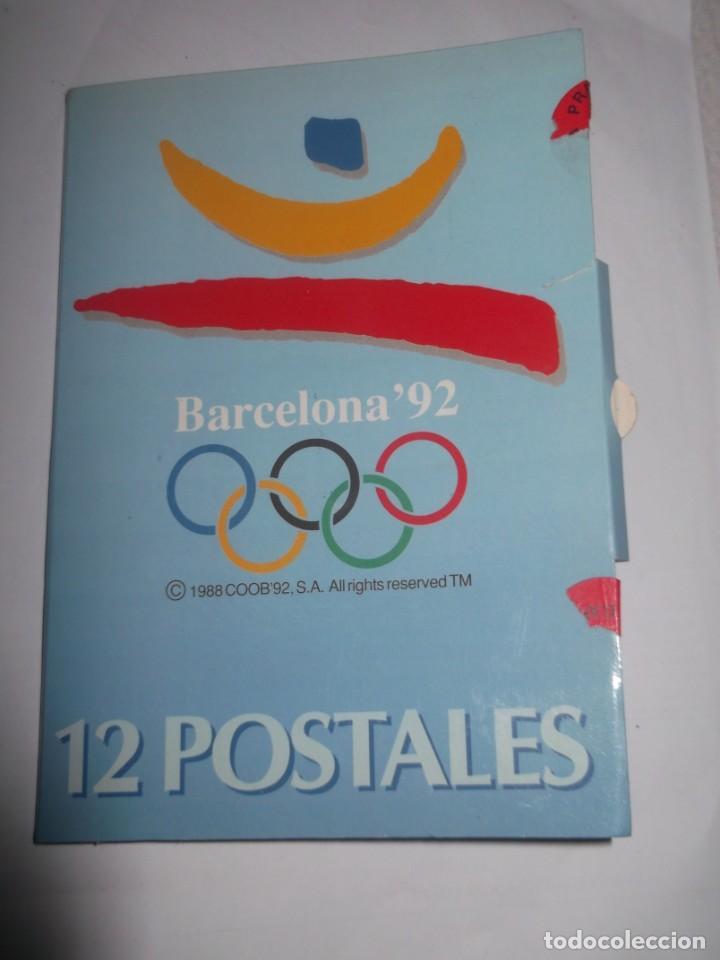 CARPETA CON 12 POSTALES ORIGINALES BARCELONA 92. (Postales - Postales Temáticas - Conmemorativas)