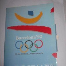 Postales: CARPETA CON 12 POSTALES ORIGINALES BARCELONA 92.. Lote 189986606