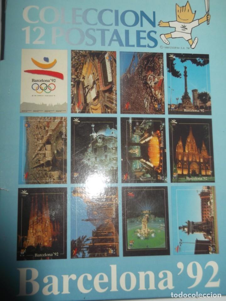 Postales: Carpeta con 12 postales originales Barcelona 92. - Foto 2 - 189986606
