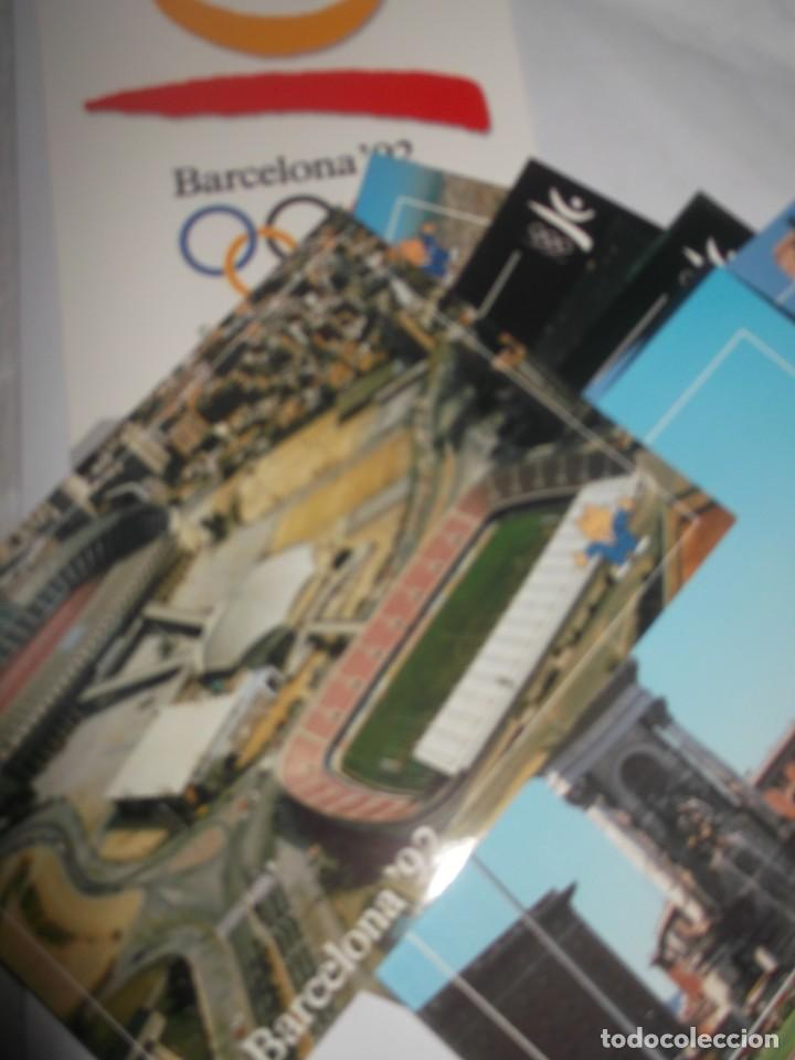 Postales: Carpeta con 12 postales originales Barcelona 92. - Foto 3 - 189986606