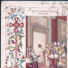 Postales: POSTAL RICORDO DELL'ANNO SANTO - ROMA 1900 - RECUERDO DEL AÑO SANTO EN ROMA. Lote 191686563