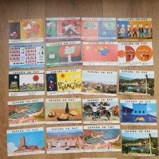 Postales: LOTE DE 22 POSTALES. *ESPAÑA EN PAZ*. EDICIÓN CONMEMORATIVA DE LOS 25 AÑOS DE PAZ. Lote 192640483