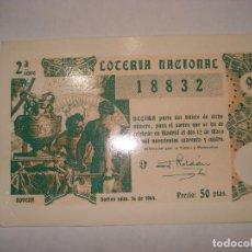 Postales: POSTAL LOTERIA NACIONAL 1941. Lote 192729326