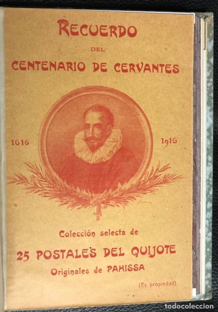 COLECCION SELECTA DE 25 POSTALES DEL QUIJOTE ORIGINALES DE PAHISSA. RECUERDO CENTENARIO DE CERVANTES (Postales - Postales Temáticas - Conmemorativas)