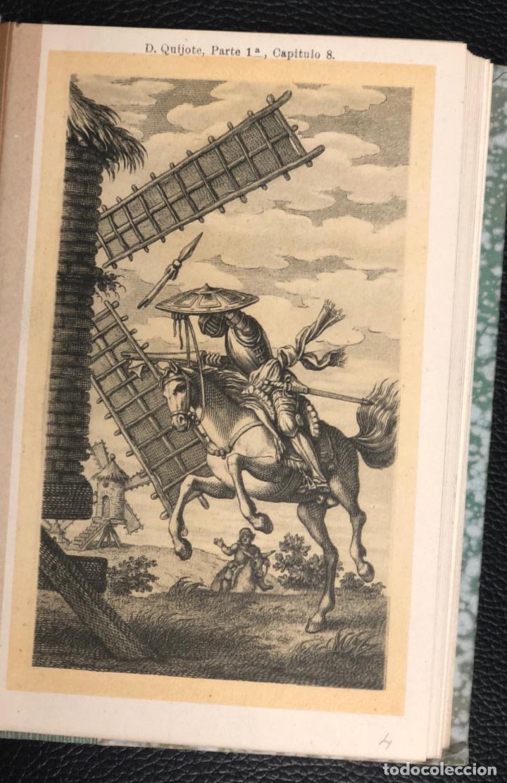 Postales: COLECCION 24 POSTALES DE D. QUIJOTE. ESCENAS DEL CAP. 1 AL 72. REVERSO SIN DIVIDIR. EDICION RARA. - Foto 3 - 193583622