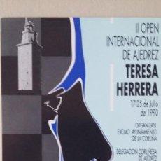 Postales: POSTAL OPEN DE AJEDREZ TERESA HERRERA 1990 LA CORUÑA. Lote 194116790