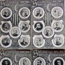 Postales: P-10130. SOLIDARITAT CATALANA. TRIOMF 20 DE MAIG 1906. 4 POSTALS DIPUTATS I SENADORS. FOT. THOMAS.. Lote 196115541