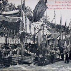 Postales: P-10133. FESTES DE LA SOLIDARITAT CATALANA.TRIBUNA . MAIG 1906. Lote 196116361