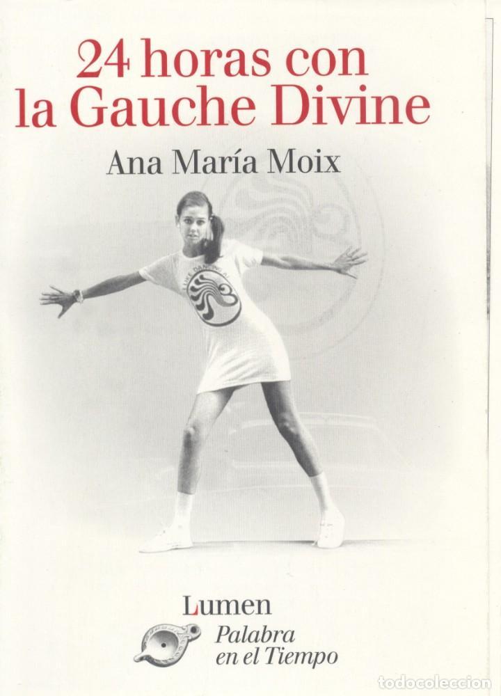 CARPETA 5 POSTALES LA GAUCHE DIVINE. PUBLICIDAD LIBRO DE ANA MARÍA MOIX (Postales - Postales Temáticas - Conmemorativas)