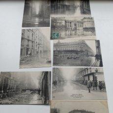 Postales: 8 POSTALES DE LAS INUNDACIONES DE PARÍS DE 1910. ALGUNAS CIRCULADAS EN EL MISMO AÑO. N.D. PHOTOS. Lote 201689312