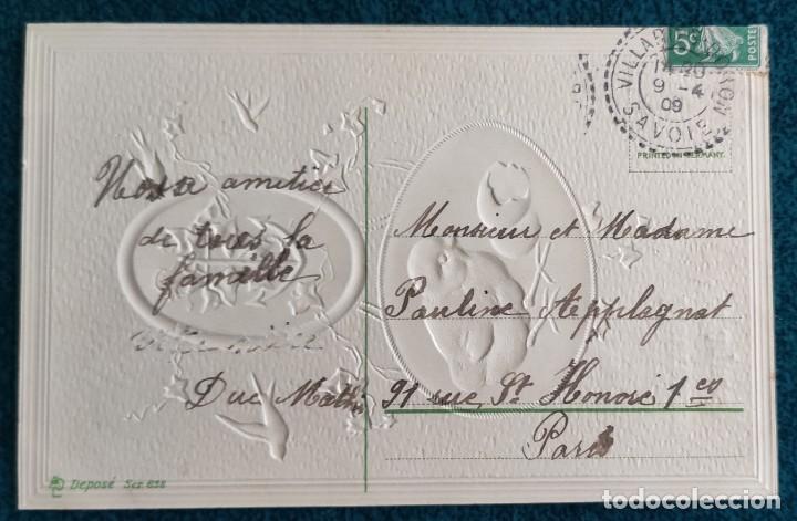 Postales: Bonita postal francesa de 1909 - Foto 2 - 202401085
