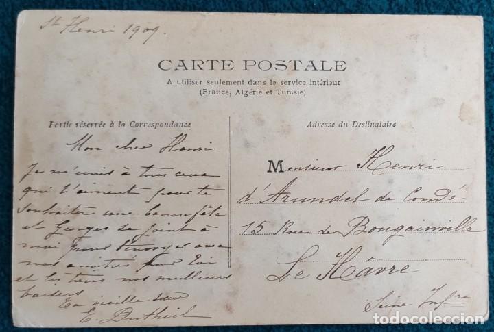 Postales: Bonita postal francesa de 1909 - Foto 2 - 202401452