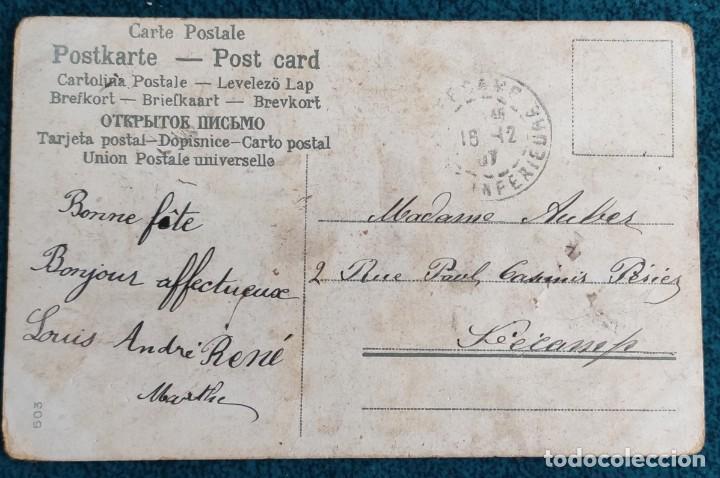 Postales: Bonita postal francesa de 1907 - Foto 2 - 202402287