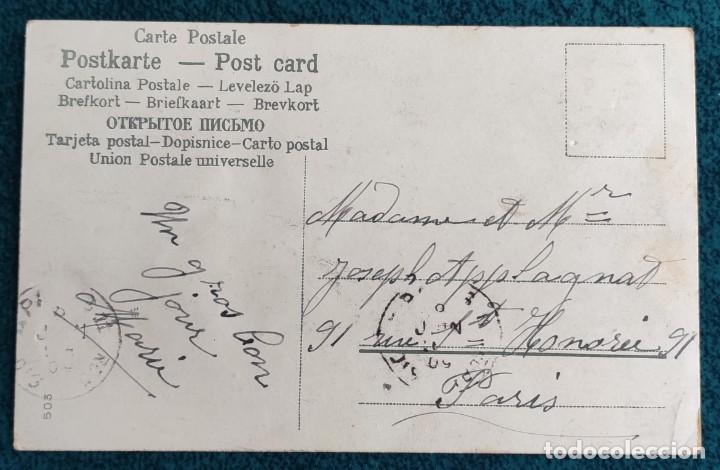 Postales: Bonita postal francesa de 1909 - Foto 2 - 202402508