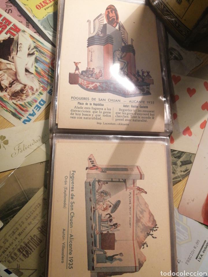 Postales: Fogueres de San Chuan serie de 25 postales originales de monumentos 1935 - Foto 2 - 202474325