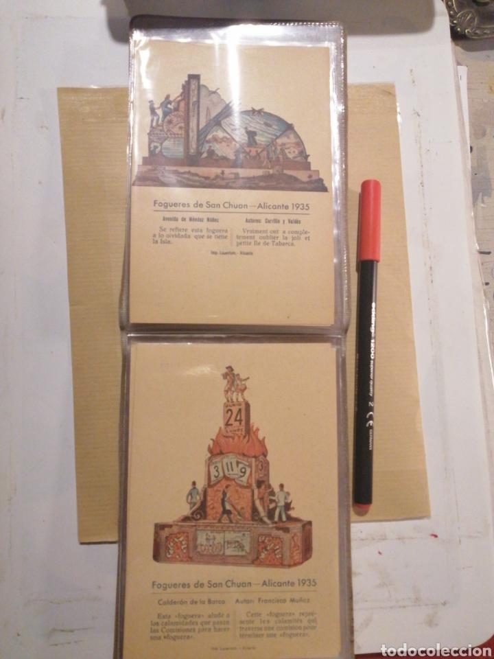 Postales: Fogueres de San Chuan serie de 25 postales originales de monumentos 1935 - Foto 3 - 202474325