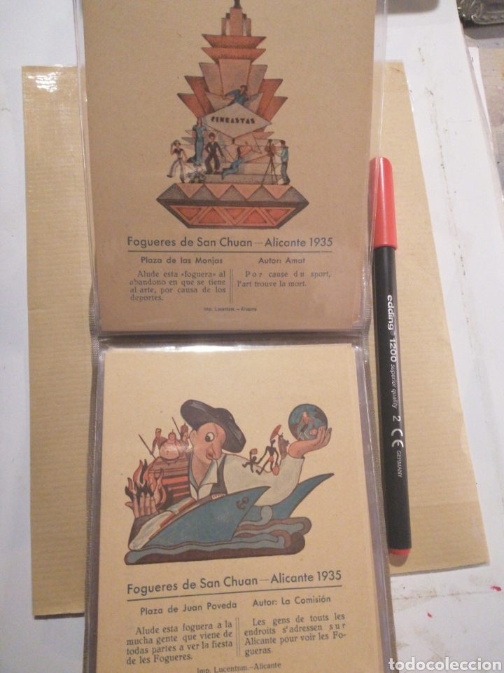 Postales: Fogueres de San Chuan serie de 25 postales originales de monumentos 1935 - Foto 4 - 202474325