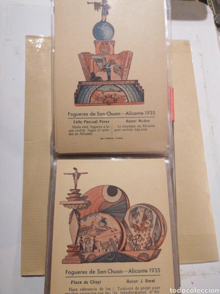 Postales: Fogueres de San Chuan serie de 25 postales originales de monumentos 1935 - Foto 5 - 202474325