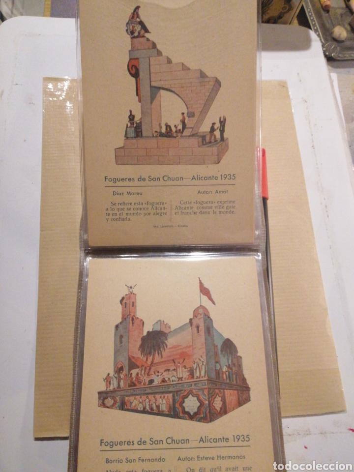 Postales: Fogueres de San Chuan serie de 25 postales originales de monumentos 1935 - Foto 6 - 202474325