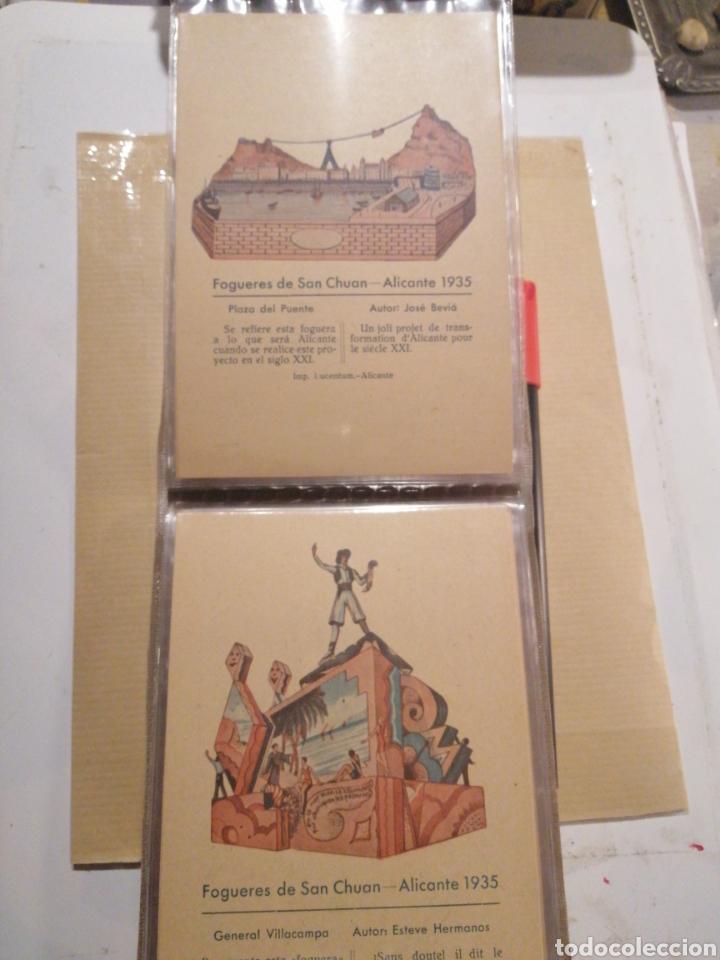 Postales: Fogueres de San Chuan serie de 25 postales originales de monumentos 1935 - Foto 7 - 202474325
